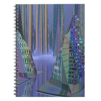 Escena del SciFi, el planeta Tamara en el cuaderno