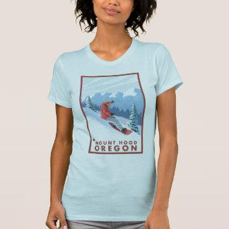 Escena del Snowboarder - capilla del soporte Oreg Camiseta