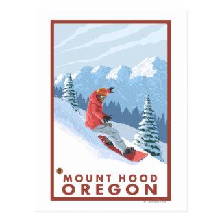 Escena del Snowboarder - capilla del soporte, Tarjetas Postales