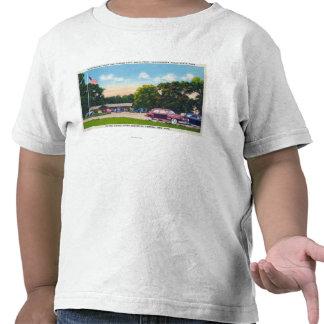 Escena del sur de aparcamiento del punto camiseta