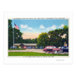 Escena del sur de aparcamiento del punto tarjeta postal
