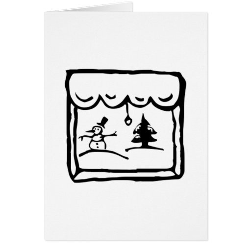 Escena del tiempo del invierno tarjeta