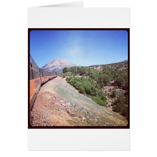 Escena del tren de Colorado Tarjeton