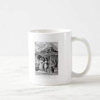 Escena del Victorian de la historia del navidad de Tazas De Café