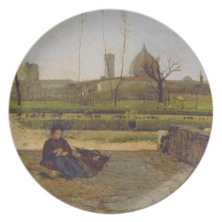Escena diaria, cerca de Florencia, c.1865 Platos Para Fiestas