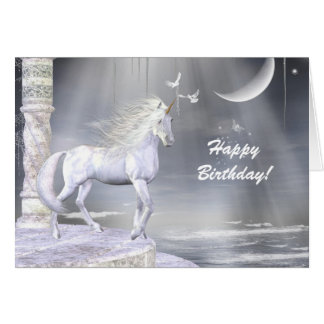 Escena divina del unicornio del ángel tarjeta