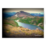 Escena el río Yellowstone hermoso de la tarjeta de