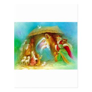 Escena elegante de la natividad, Maria Jesús José Postales