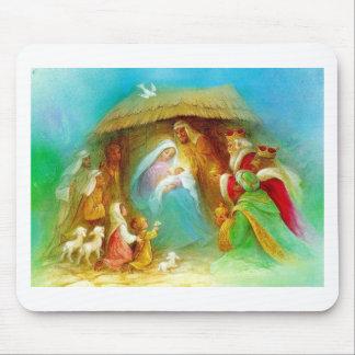 Escena elegante de la natividad, Maria Jesús José Tapetes De Ratón