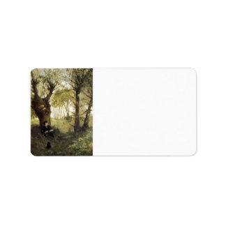 Escena en Auvers de Berthe Morisot Etiquetas De Dirección