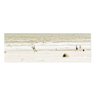 Escena en colores pastel de la playa tarjetas de visita mini