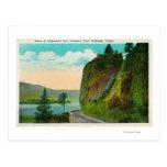 Escena en Dell de Shepperd en el río Columbia Postal