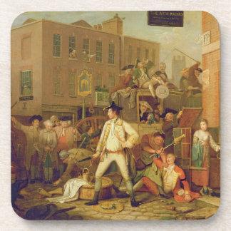 Escena en una calle de Londres, 1770 (aceite en lo Posavasos