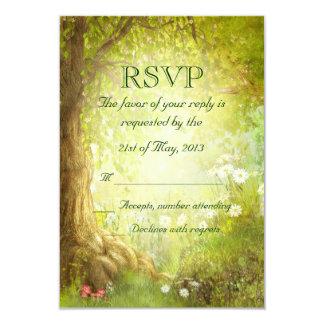 Escena encantada RSVP del bosque Invitación 8,9 X 12,7 Cm