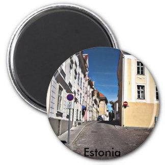 Escena Estonia de la calle, Imán Redondo 5 Cm