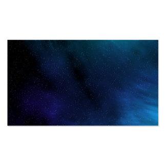 Escena estrellada del espacio tarjetas personales