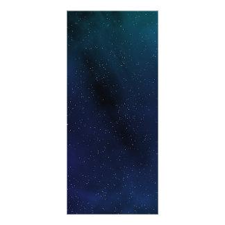 """Escena estrellada del espacio folleto publicitario 4"""" x 9"""""""