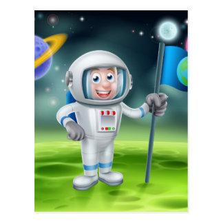 Escena extranjera de la luna del astronauta del postales