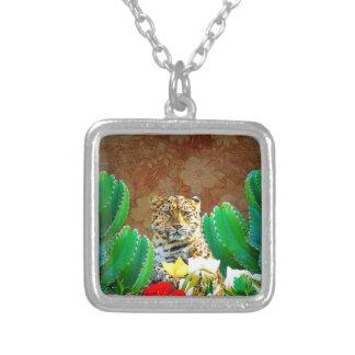 Escena floral del cactus hermoso del tigre colgante cuadrado