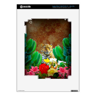 Escena floral del cactus hermoso del tigre iPad 3 skin