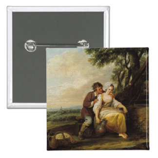 Escena Galante, 1774 Pin Cuadrada 5 Cm