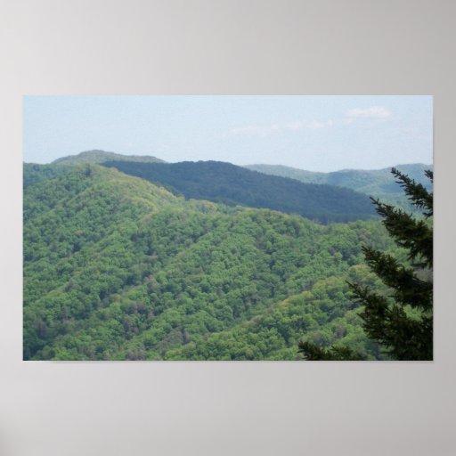 Escena Great Smoky Mountains de la montaña Impresiones