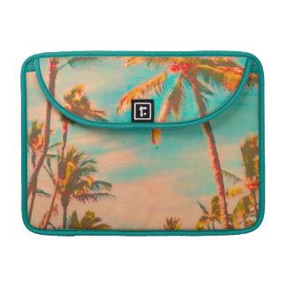 Escena hawaiana de la playa del vintage de funda para macbook pro