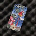 Escena hawaiana del verano de la playa de los funda para iPhone 6 tough