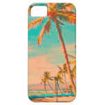 Escena hawaiana/trullo de la playa del vintage de  iPhone 5 protector