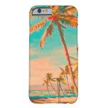 Escena hawaiana/trullo de la playa del vintage de funda de iPhone 6 barely there