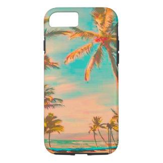 Escena hawaiana/trullo de la playa del vintage de funda iPhone 7