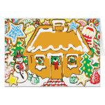 Escena helada del navidad de las galletas de la tarjeta de felicitación