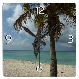 Escena hermosa de la naturaleza de la playa I de Reloj Cuadrado