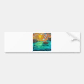 Escena ideal etiqueta de parachoque