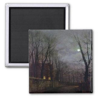 Escena iluminada por la luna de la calle, 1882 (ac imán cuadrado