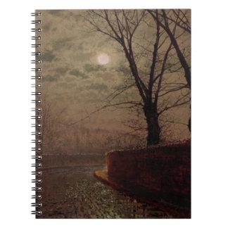 Escena iluminada por la luna de la calle, 1882 (ac cuadernos