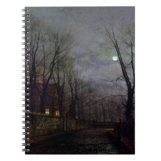 Escena iluminada por la luna de la calle, 1882 (ac libros de apuntes con espiral