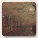 Escena iluminada por la luna de la calle, 1882 (ac posavaso