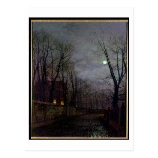 Escena iluminada por la luna de la calle, 1882 (ac tarjetas postales