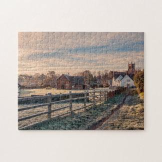 Escena inglesa rural pintoresca del país puzzles