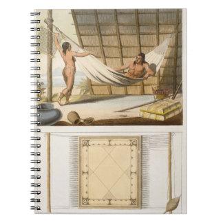 Escena interior que representa a los indios (graba notebook