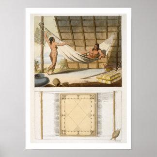Escena interior que representa a los indios (graba póster