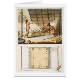Escena interior que representa a los indios (graba tarjeta de felicitación