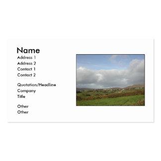Escena irlandesa colorida del pueblo tarjetas de visita
