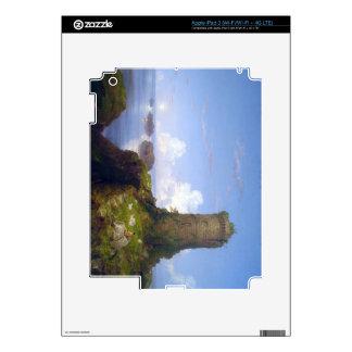 Escena italiana de la costa con la torre arruinada iPad 3 pegatina skin