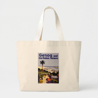 Escena italiana del poster del turismo del vintage bolsa