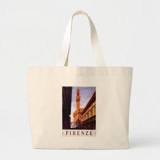 Escena italiana del poster del turismo del vintage bolsas de mano