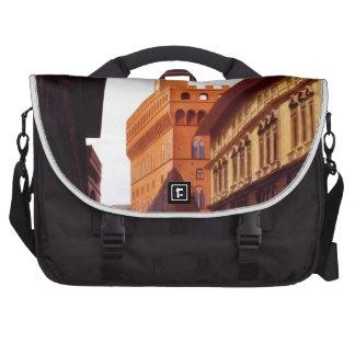 Escena italiana del poster del turismo del vintage bolsas de portatil