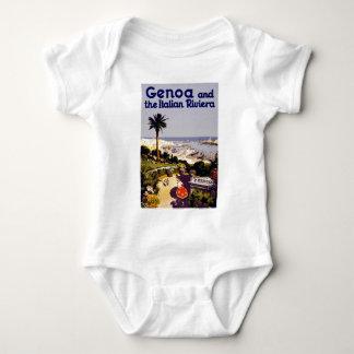Escena italiana del poster del turismo del vintage mameluco de bebé