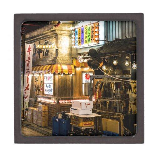 Escena japonesa de la ciudad caja de recuerdo de calidad